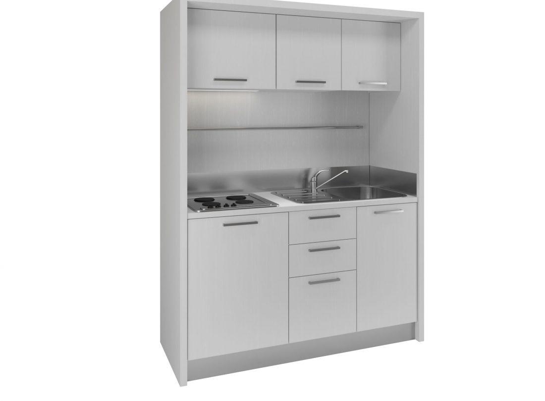 Una piccola cucina capiente adatta anche a posizionamento in zona soggiorno living