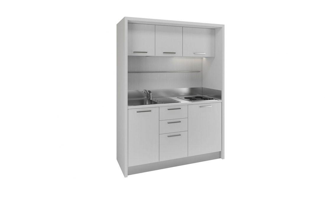 Circeo è una piccola cucina full optional per monolocali e residence