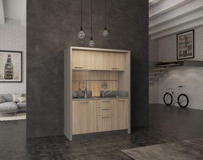 Cilento - Mobile cucina a scomparsa con piano 4 fuochi, frigo e ...
