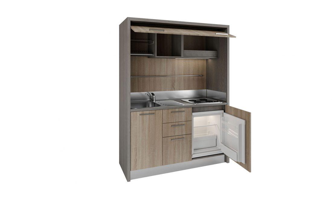 Cucina monoblocco elegante completa per appartamenti in affitto