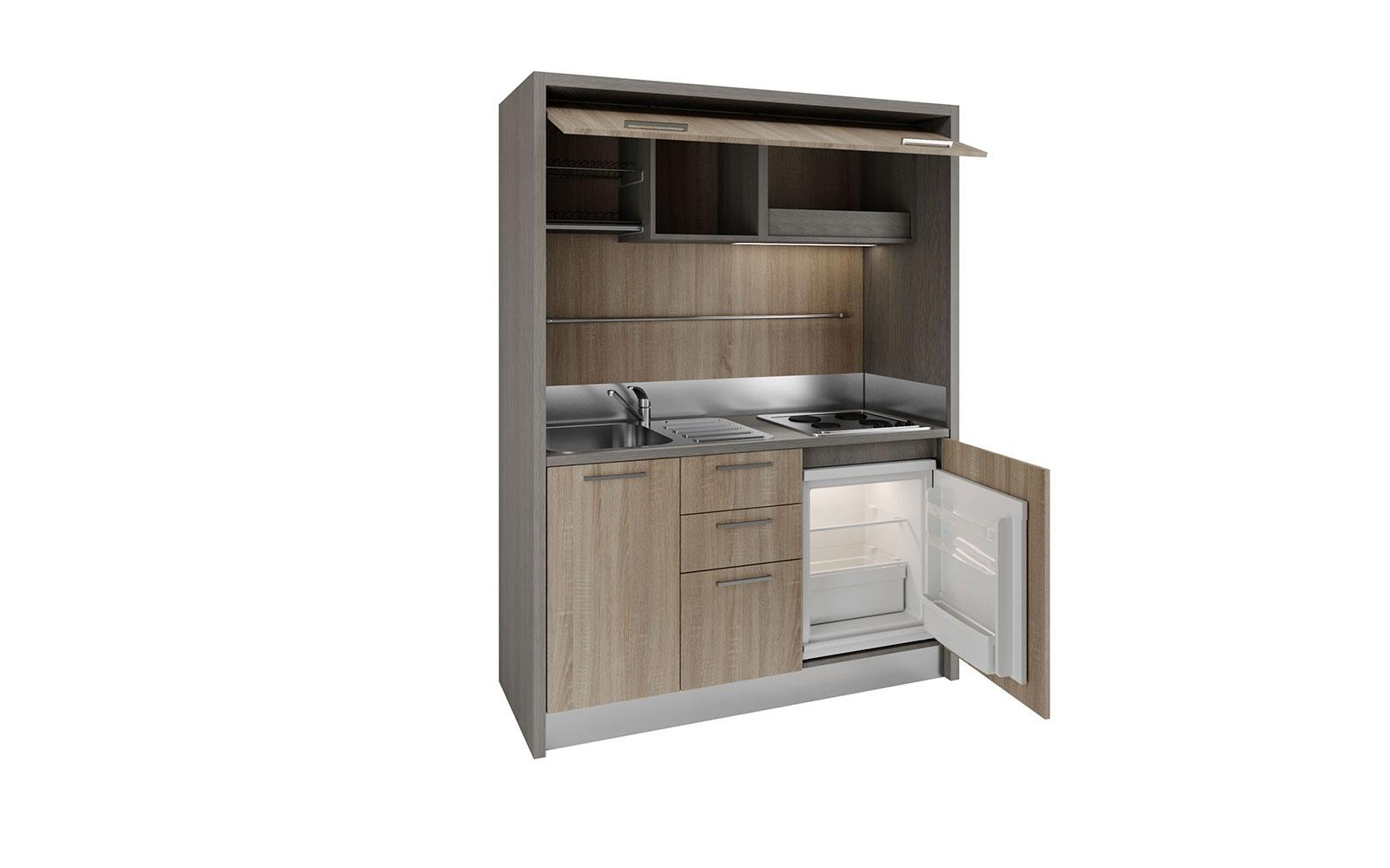 Garfagnana - Mini cucina monoblocco 158cm con piano cottura 4 fuochi ...