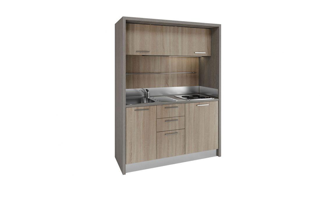 Cucina monoblocco completa in 1 metro e 160 centimetri per residence vacanza
