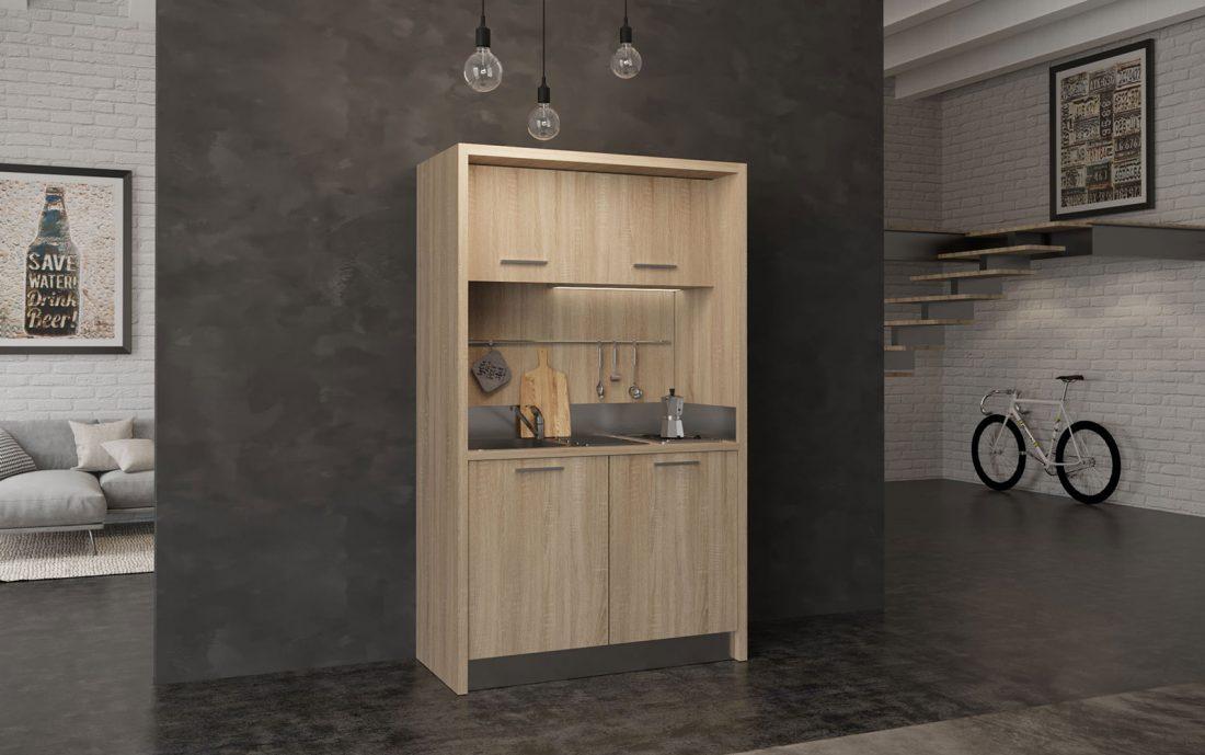 Gargano è una piccola cucina monoblocco che sta in meno di 1 metro e 50