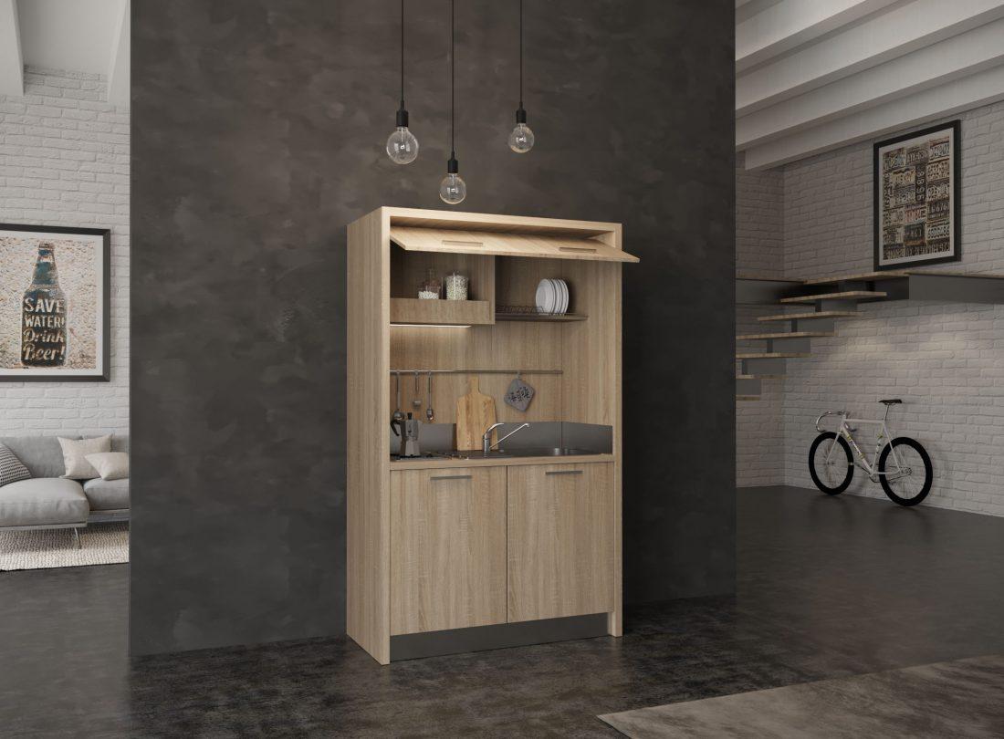 Piccola mini cucina completa per depandance, residence e hotel