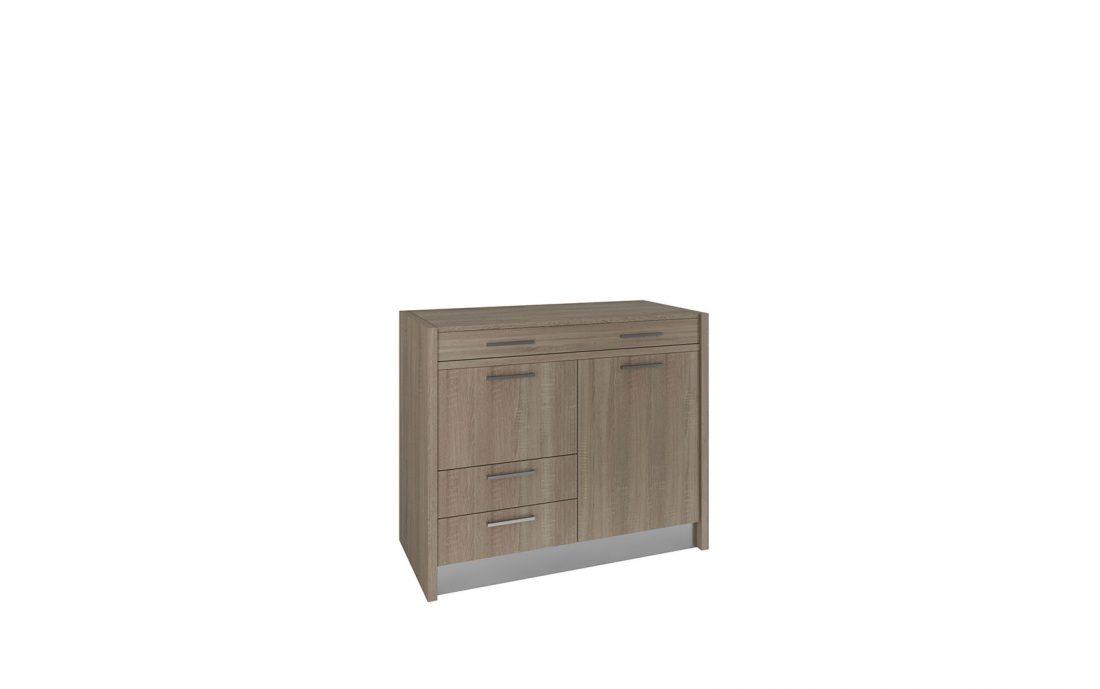 Marsica è un mobile basso con all'interno una cucina completa a due fuochi