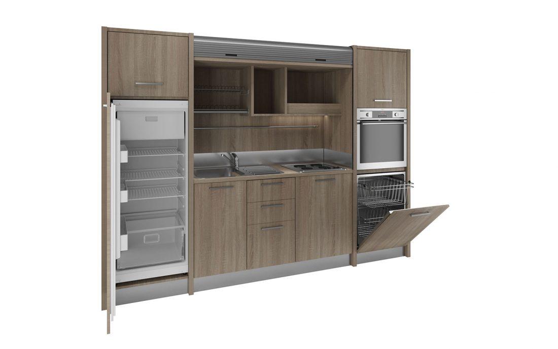 Metaponto è una grande cucina monoblocco completa per residence e agriturismi