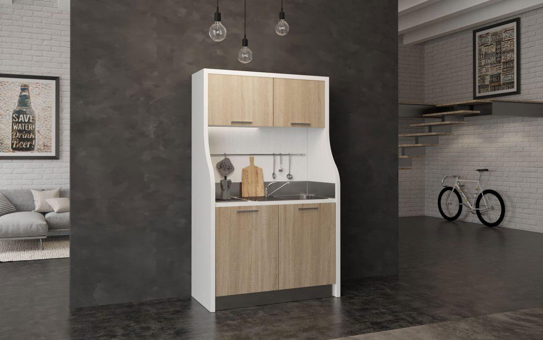 Monferrato è una piccola cucina completa in 130 centimetri