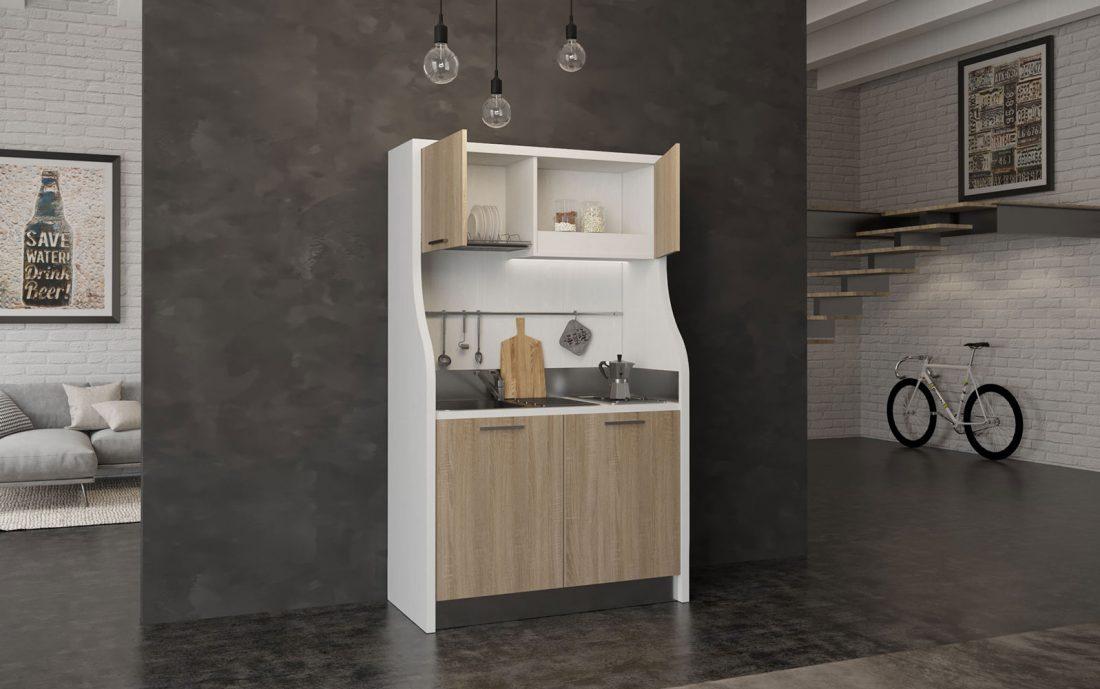 Una mini cucina per un angolo cottura elegante e di design