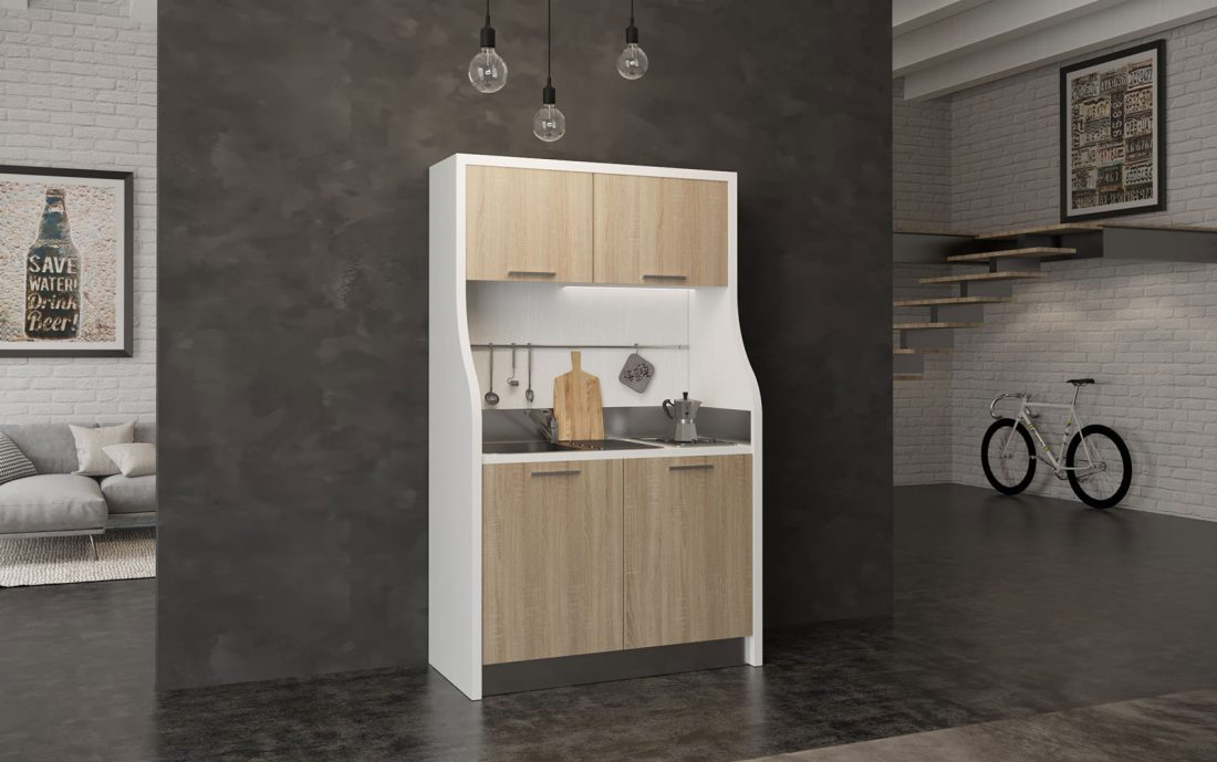 Monferrato è un angolo cottura monoblocco completo con frigo