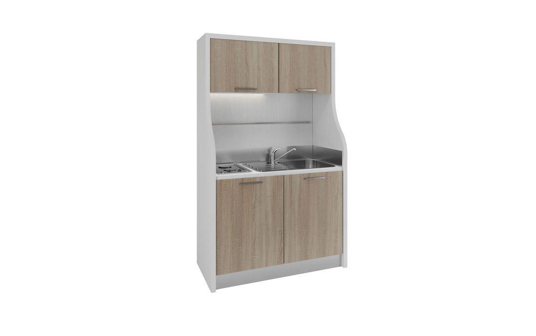Mini cucina monoblocco con line moderne per residence e agriturismi