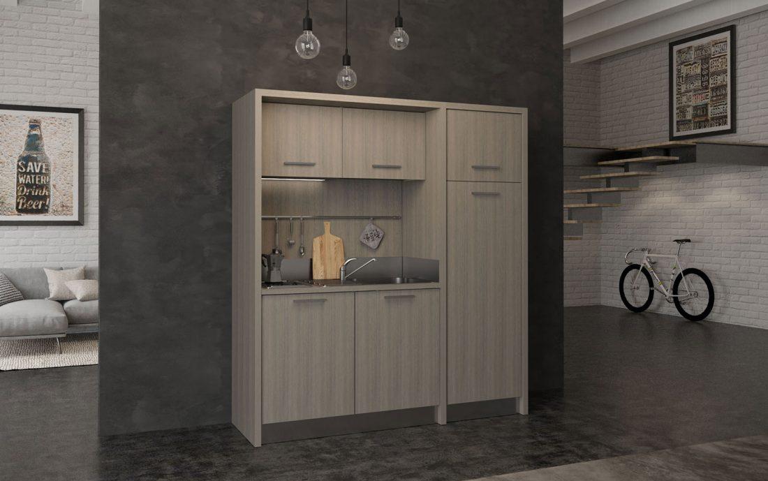 Mugello - Cucina compatta con frigorifero adatta a BnB e residence