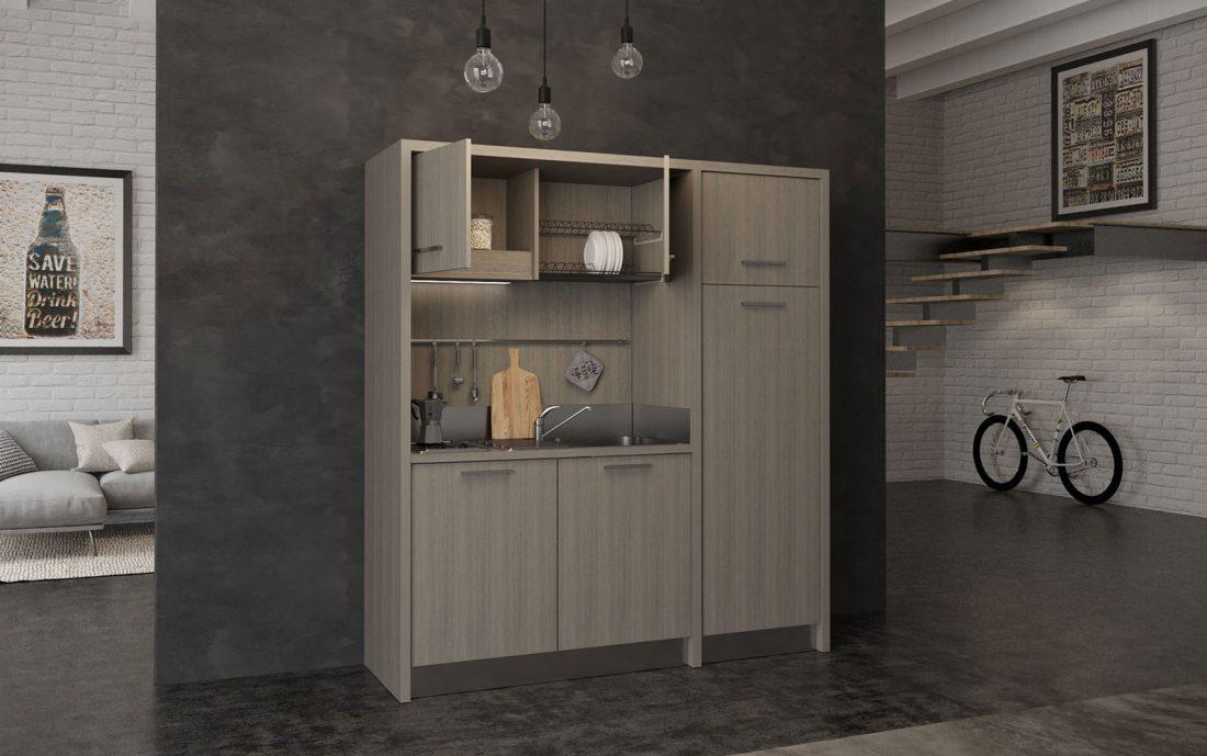 Mugello - Cucina monoblocco a vista ideale per miniappartamento