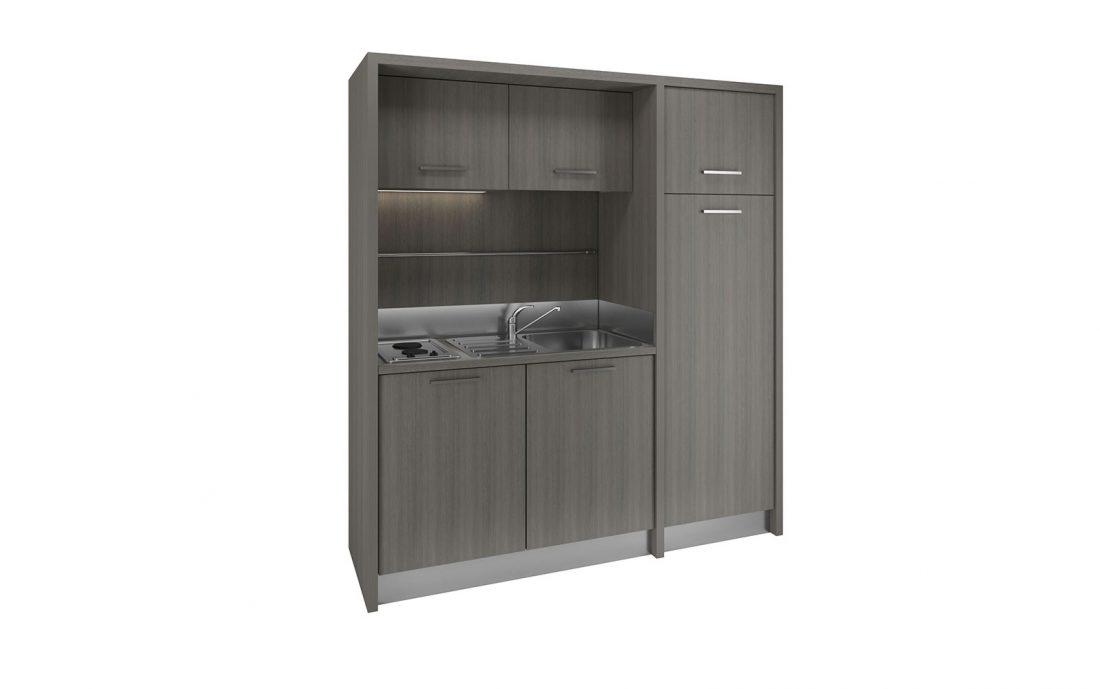 Mugello - cucina monoblocco di design per appartamenti monocamera residence