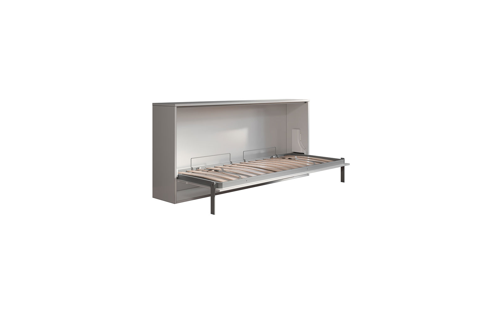 Neve Desk 85 - Letto a scomparsa per cameretta singolo con scrivania