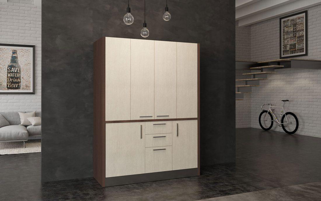 Cucina che si nasconde e richiude in armadio da 1 metro e 60