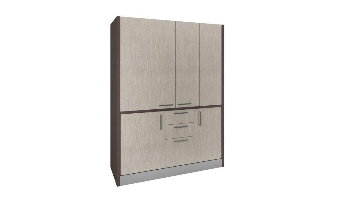Cucina nascosta in armadio che può stare nel soggiorno di casa