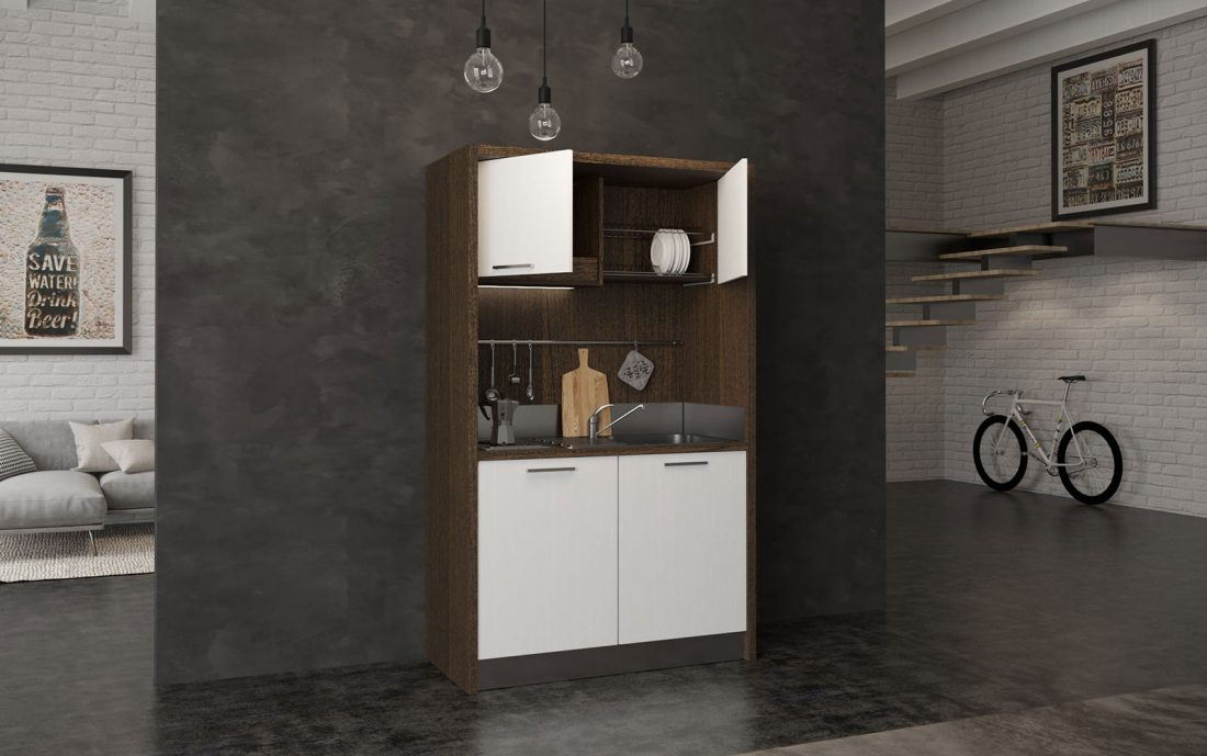 Sabina - minicucina con piano elettrico induzione e frigobar