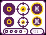 Immagine rappresentativa dei piani cottura disponibili per le cucine monoblocco