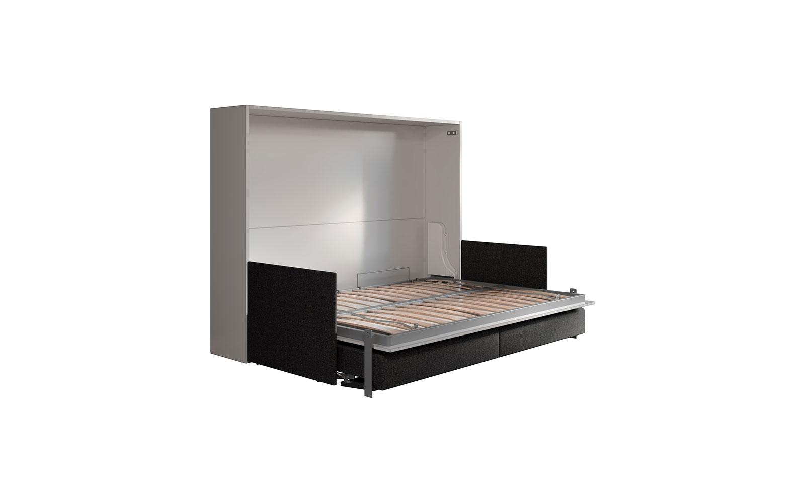 Soffio Sofa 140 Slim - Letto a scomparsa orizzontale due piazze con divano  automatico