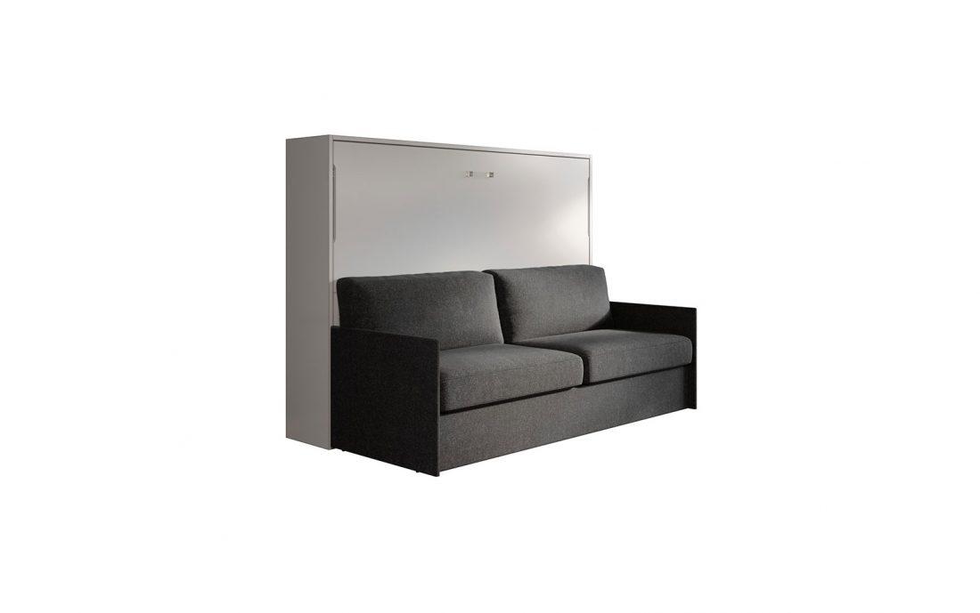 Mobile letto alla francese 2 piazze con divano automatico sotto 1 metro e 70