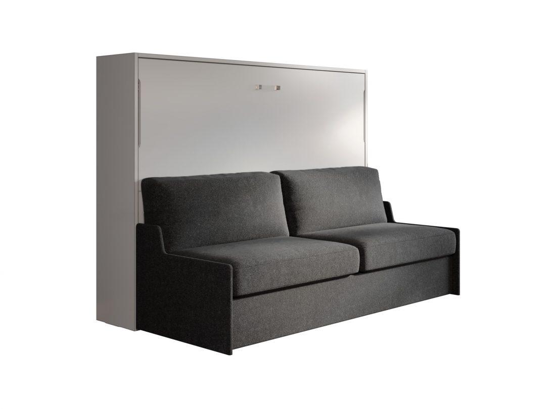 Mobile basso con letto alla francese 2 piazze e divano salva spazio automatico