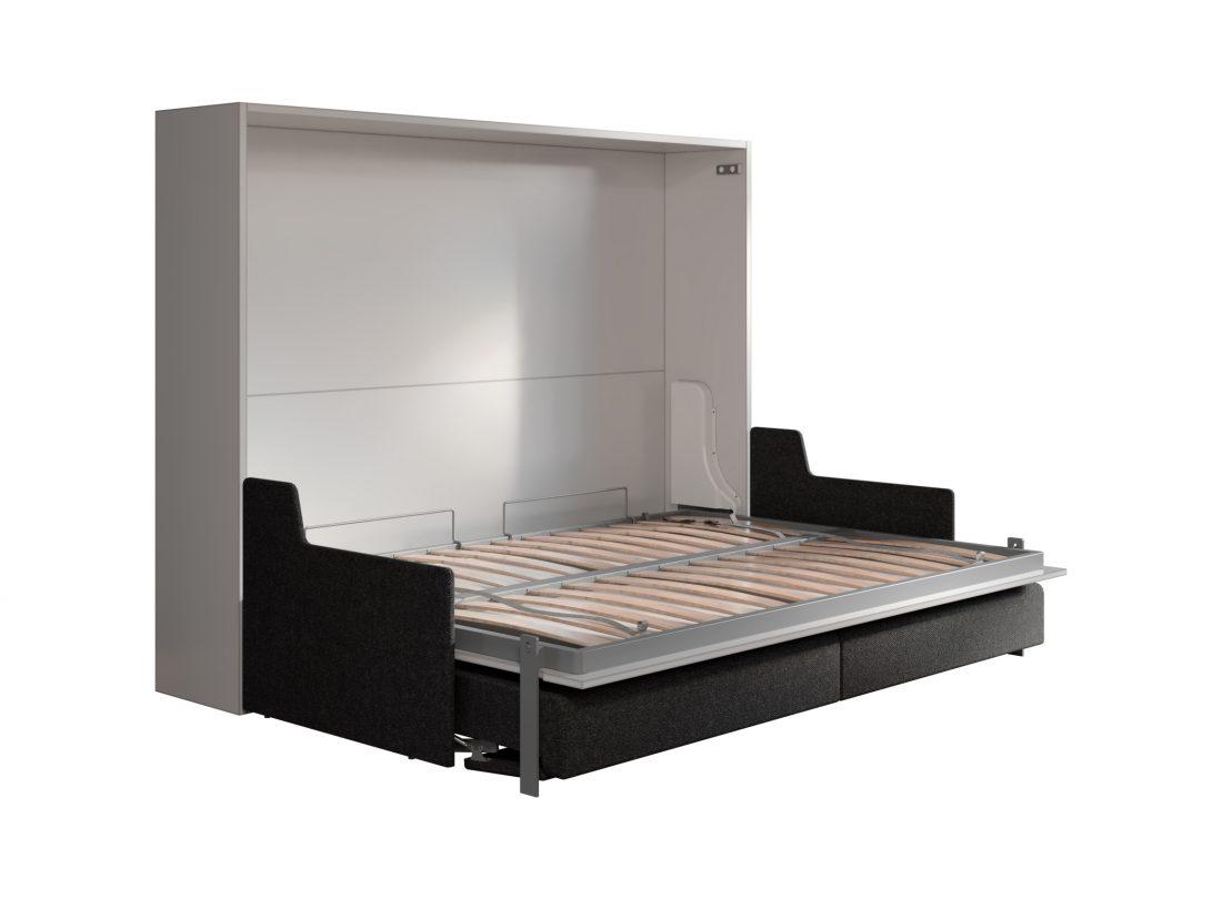 Mobile letto apribile 2 piazze alla francese con divano per rustico o mansarda