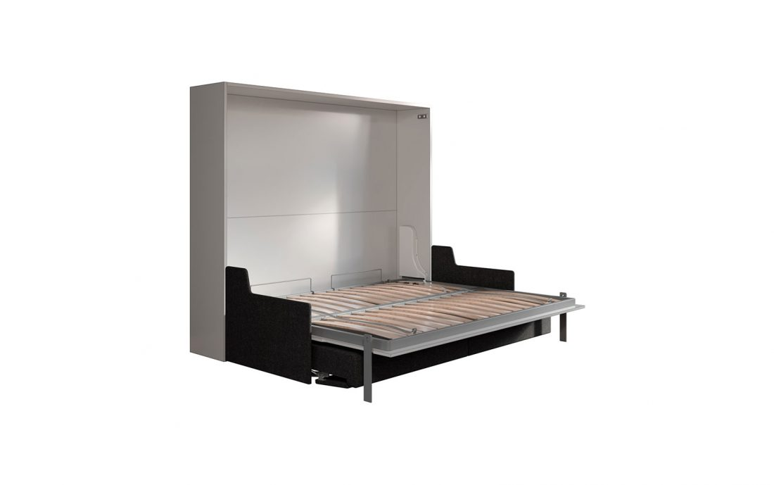 Mobile letto a scomparsa con divano per ambienti con soffitto basso