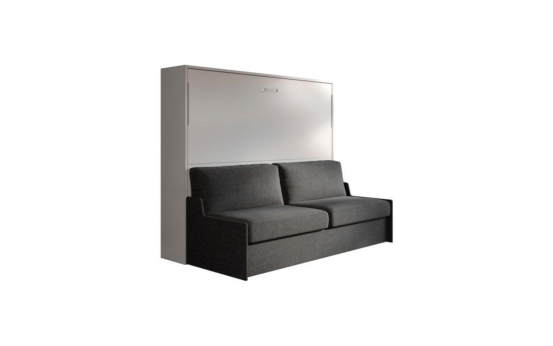 Mobile letto 2 piazze matrimoniale a scomparsa con divano automatico 3 posti