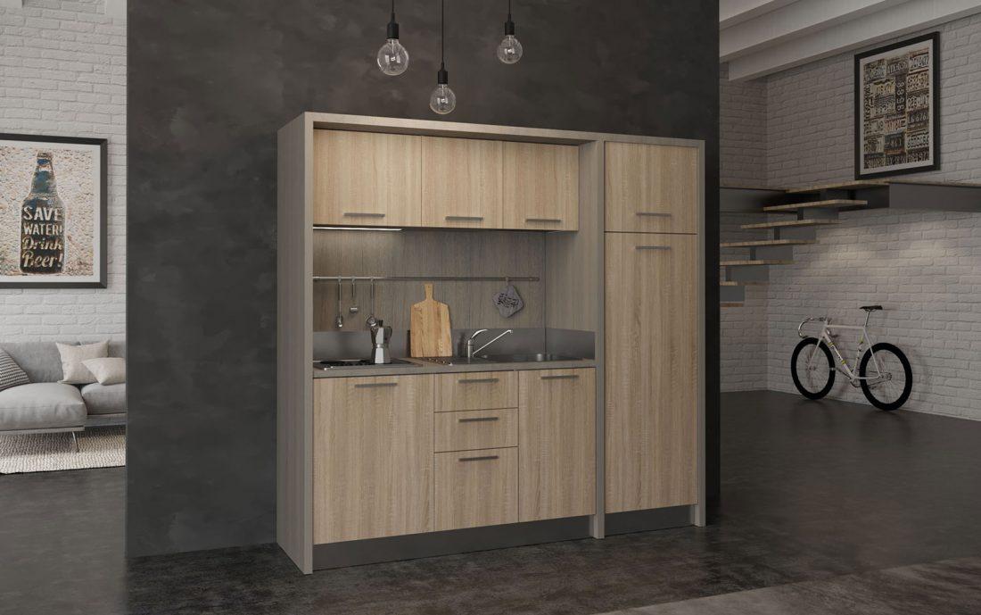 Cucina monoblocco elettrica completa adatta a BnB, case vacanza e hotel
