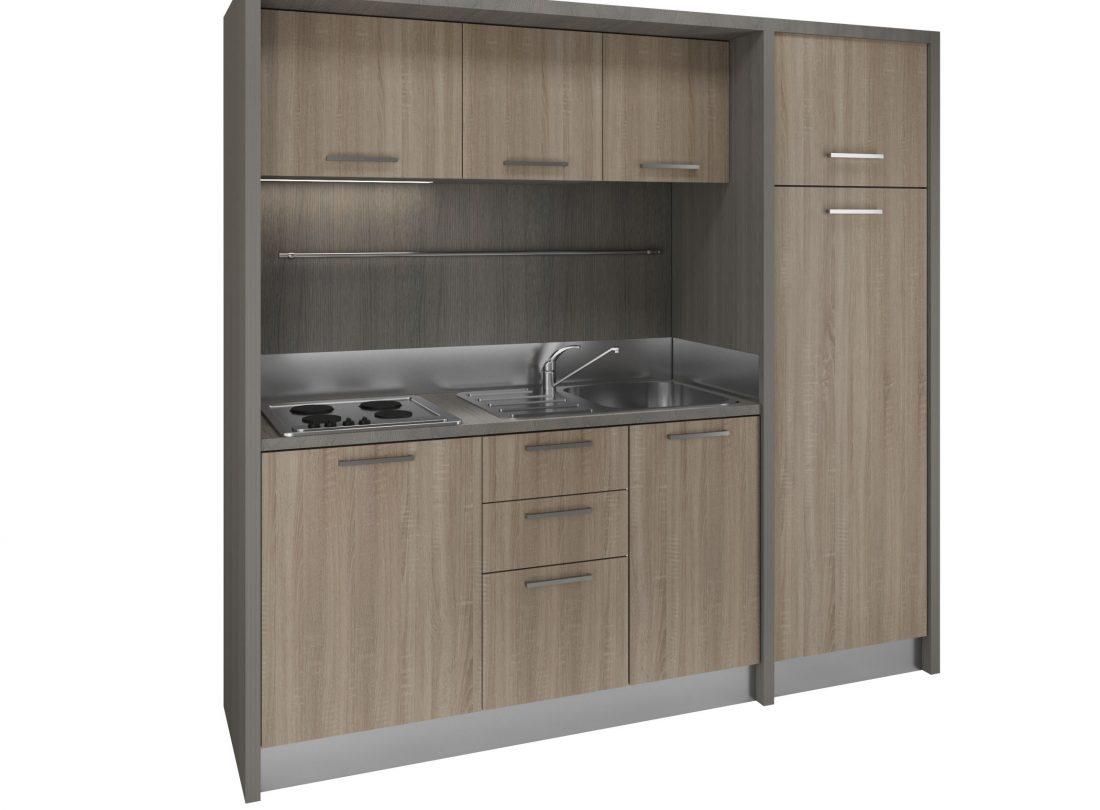 Cucina armadio compatta con piano a induzione per case piccole