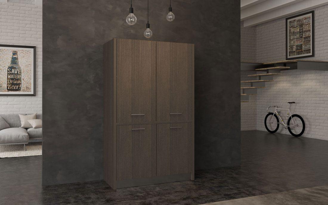 Una cucina completa che sembra un mobile da ufficio