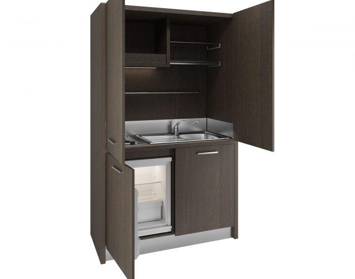 Brianza - Cucina monoblocco a scomparsa con ante 128cm con ...