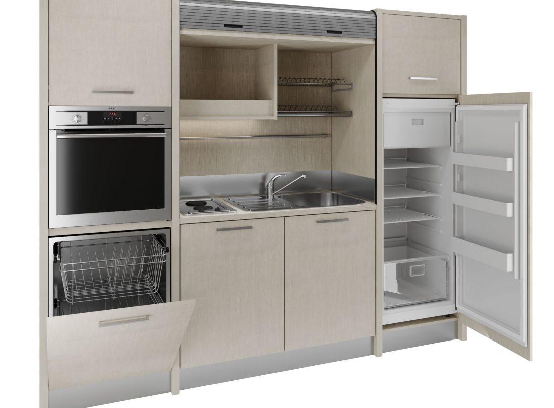 Versilia è una cucina a scomparsa adatta ad attività alberghiere e residence