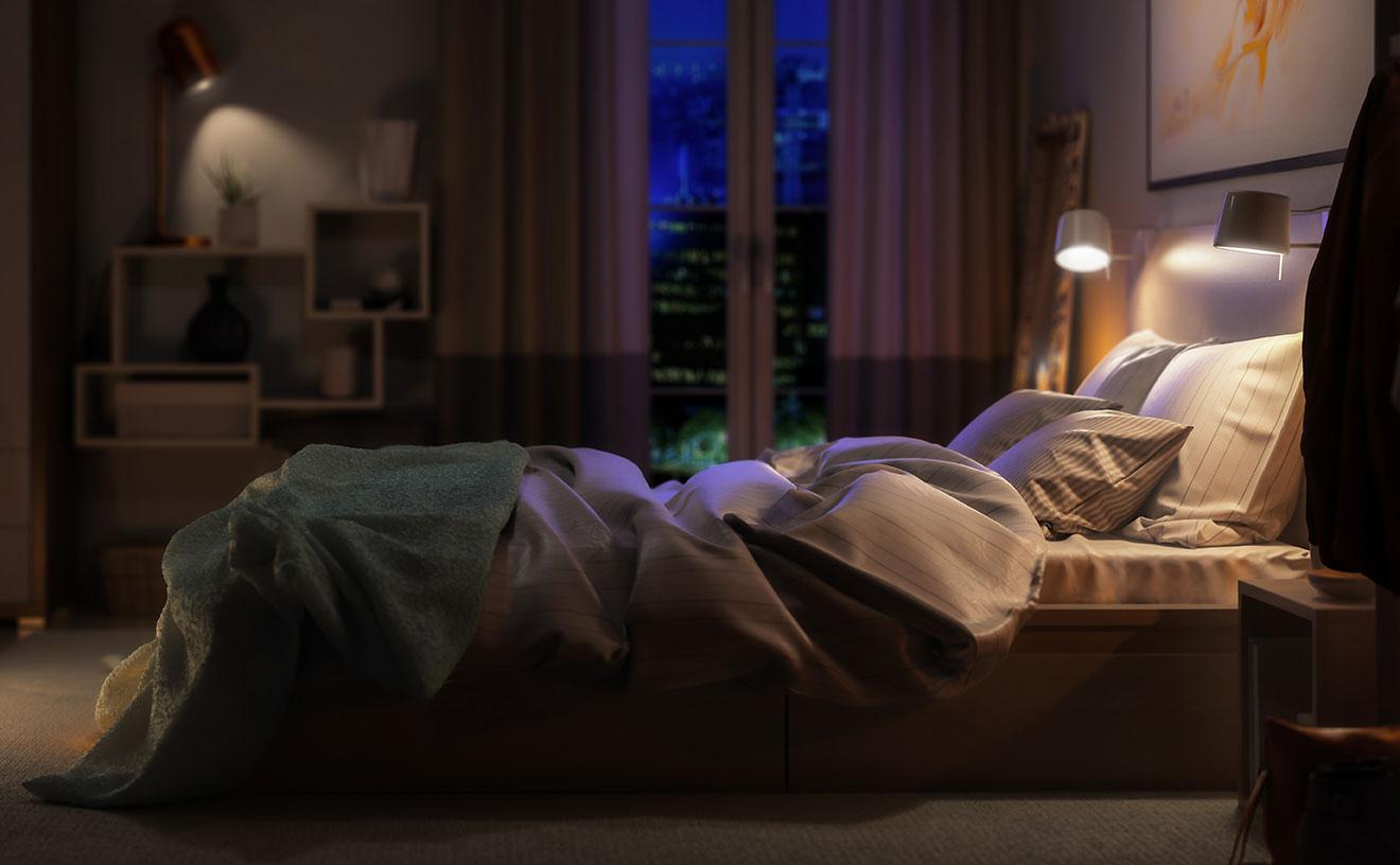 Come dormire bene la notte - Luci soffuse