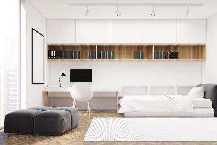 Come arredare una camera con letto singolo a scomparsa