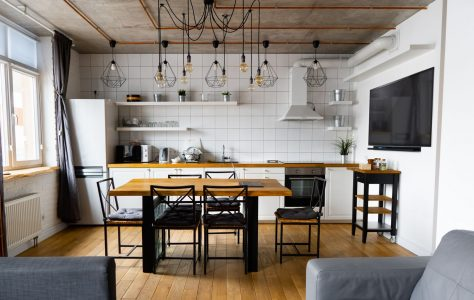 Cucina abitabile moderna in legno