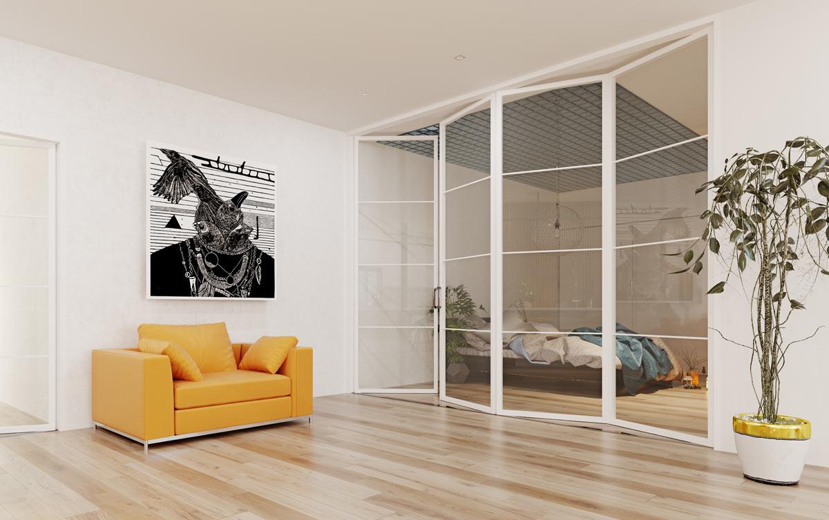 vaere più spazio grazie alle pareti divisorie